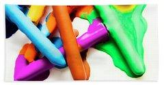 Colourful Crayon Art Bath Towel