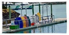 Colourful Dinghies Auckland Hand Towel
