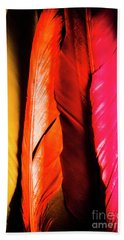 Colourful Feather Art Hand Towel