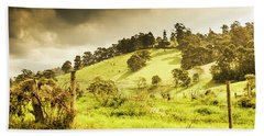 Colourful Fields And Farmyards Hand Towel