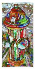 Colourful Hydrant Bath Towel