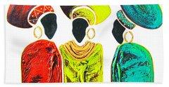 Colourful Trio - Original Artwork Bath Towel