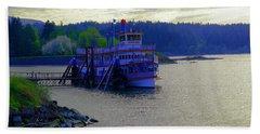 Columbia Gorge At Dock In Cascade Locks  Bath Towel