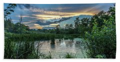 Columbia Marsh Sunset Hand Towel