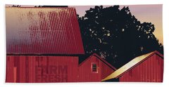 Columbia Maryland Farm - Farm Fresh Produce Hand Towel