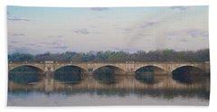 Bath Towel featuring the photograph Columbia Railroad Bridge - Philadelphia by Bill Cannon