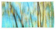 Columbia River Abstract Hand Towel by Theresa Tahara