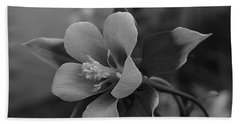 Columbine  Bw Bath Towel