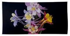 Bath Towel featuring the photograph Columbine Medley by Gary Lengyel
