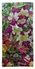 Columbine Bath Towel by Shirley Heyn