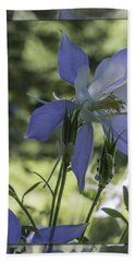 Columbine With Styalized Border Hand Towel by Chris Thomas