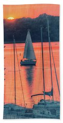 Come Sail Away Bath Towel