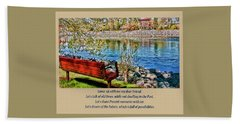 Come, Sit With Me My Dear Friend Bath Towel