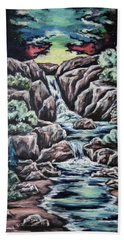 Hand Towel featuring the painting Come Walk With Me 2 by Cheryl Pettigrew