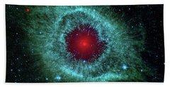Comets Kick Up Dust In Helix Nebula  Hand Towel