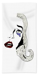 Comic Lady Bath Towel