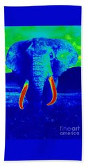Heat Map Elephant Coming At You In About Ten Seconds Hand Towel