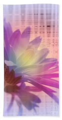 Coming To Life Love Notes Mirror Bath Towel by Cathy  Beharriell