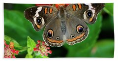 Common Buckeye Butterfly Bath Towel