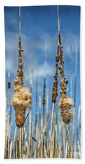 Common Cattail Seeds Bath Towel