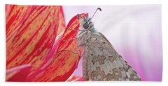 Common Checkered Skipper Hand Towel