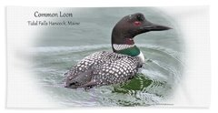 Hand Towel featuring the photograph Common Loon Tidal Falls Maine by Debbie Stahre