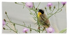 Common Yellowthroat Bath Towel