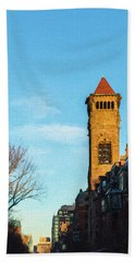 Commonwealth Avenue In Boston Hand Towel