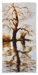 Como Lake Reflections Hand Towel