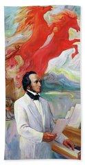 Composer Felix Mendelssohn Bath Towel