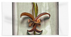 Composite Fleur-de-lis Of Oleander Hand Towel