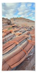 Concentric Circles Of Sandstone At Valley Of Fire Hand Towel by Ray Mathis