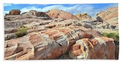 Concentric Color In Valley Of Fire Bath Towel