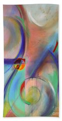 Hand Towel featuring the painting The Moment by Jodie Marie Anne Richardson Traugott          aka jm-ART