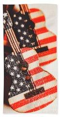 Concert Of Stars And Stripes Bath Towel