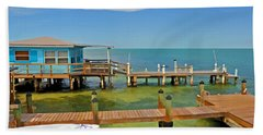 Conch Key Blue Cottage 3 Bath Towel