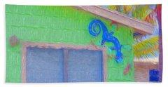 Conch Key Lizard Wall Art Bath Towel