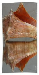 Conch Shell And Its Reflection Bath Towel
