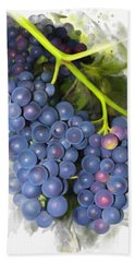 Bath Towel featuring the painting Concord Grape by Ivana Westin