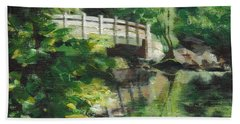 Concord River Bridge Hand Towel