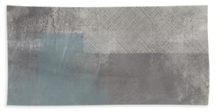 Concrete 3- Contemporary Abstract Art By Linda Woods Bath Towel