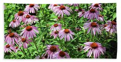 Cone Flowers  Hand Towel