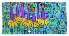 Coneflower Ballet Hand Towel by Donna Howard