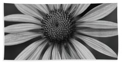 Coneflower In Black And White Hand Towel