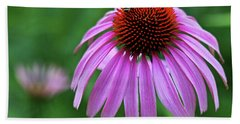 Bath Towel featuring the photograph Coneflower by Judy Vincent