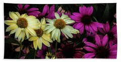Hand Towel featuring the photograph Coneflowers by Jay Stockhaus