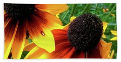 Bath Towel featuring the photograph Coneflowers by Robert Knight
