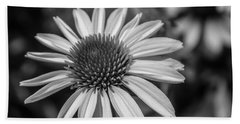 Conehead Daisy In Black And White Hand Towel by Arlene Carmel
