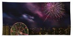 Coney Island Fireworks Bath Towel