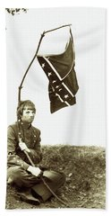 Confederate Soldier Bath Towel by KG Thienemann